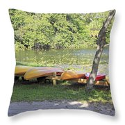 Kayak Rentals Throw Pillow
