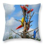 Kayak Tree Throw Pillow