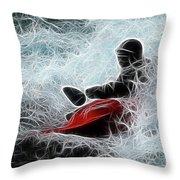 Kayaker 2 Throw Pillow by Bob Christopher