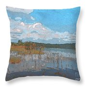 Kayaking At Lake Juliette Throw Pillow