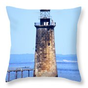 Kayaking By Ram Island  Throw Pillow by Nancy Patterson