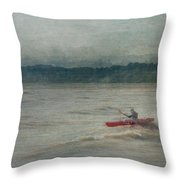 Kayaking In Port Dover Throw Pillow