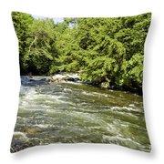 Kayaking On Gull River Throw Pillow