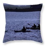 Kayaking Stonington Throw Pillow