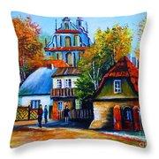 Kazimierz Dolny In Fall Throw Pillow