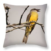 Kb Posing Throw Pillow