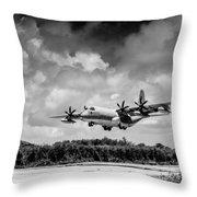 Kc-130 Approach Throw Pillow