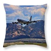 Kc-135 Take Off Throw Pillow