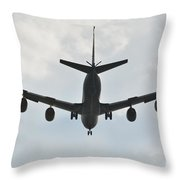 Kc135 Military Aircraft  Picture E Throw Pillow