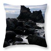 Keanae Peninsula Maui Hawaii Throw Pillow