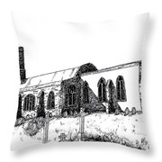 Kedington Church Throw Pillow