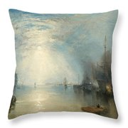 Keelmen Heaving In Coals By Moonlight Throw Pillow by Joseph Mallord William Turner