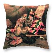 Keema Indian Princess Throw Pillow