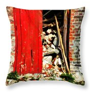 Keep All Fire Exits Clear Throw Pillow
