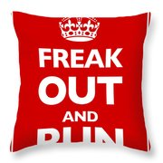 Keep Calm And Carry On Parody Red Throw Pillow