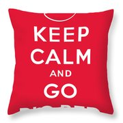 Keep Calm And Go Big Red Throw Pillow