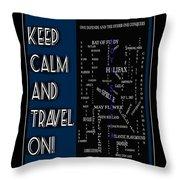 Keep Calm And Travel On Nova Scotia Crosswords Throw Pillow