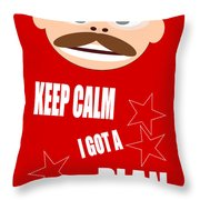 Keep Calm I Got A Plan Throw Pillow
