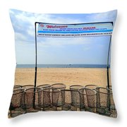Keep Coney Clean Throw Pillow