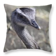 Keep In View - Emu Portrait Throw Pillow