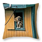 Keep It Down Out There Throw Pillow