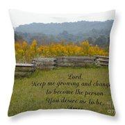 Keep Me Growing Throw Pillow