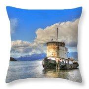 Keep Off Old Ship Throw Pillow