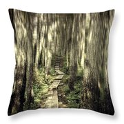 Keep On The Path Throw Pillow
