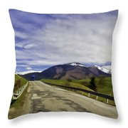 Keep On Trucking Throw Pillow