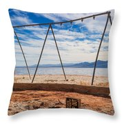 Keep Out No Playing Here Swing Set Playground Throw Pillow