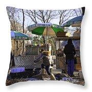 Keep Park Clean - Central Park - Nyc Throw Pillow