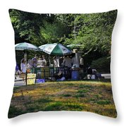 Keep Park Clean Throw Pillow