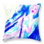 Feeling So Lonely But Must Keep Silent In The Boat Throw Pillow