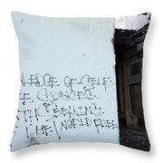 Keep The World Free Throw Pillow
