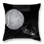Keep Your Eye On The Ball Throw Pillow