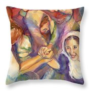 Keep Your Eyes On The Prize United Throw Pillow