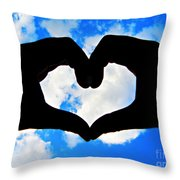 Keep Your Heart In The Clouds Throw Pillow