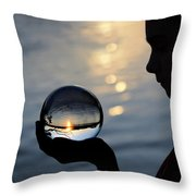 Keeper Of The Flame Throw Pillow by Laura Fasulo