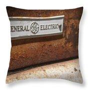 Keeping Rusty Company Throw Pillow