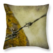 Keeping You Out Or Keeping Me In Throw Pillow