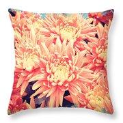 Keepsake Chrysanthemum  Throw Pillow
