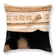 Keetz Keetz In Hiding Throw Pillow