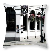 Keg Throw Pillow