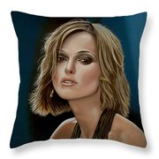 Keira Knightley Throw Pillow by Paul Meijering