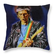 Keith Richards Of Rolling Stones Throw Pillow