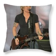 Musician Keith Urban Throw Pillow