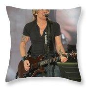 Musician Keith Urban Throw Pillow