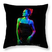 Kellierainbow-11 Throw Pillow