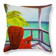 Kelly's Beach House Throw Pillow