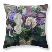 Kelly's Bridal Bouquet Throw Pillow